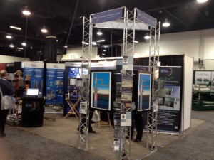 Our display at the Global Petroleum Show - Showing off some of our controllers and debuting the new CyclopsTM IS and ExP models. Click on the photo for a full sized image.