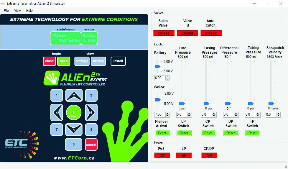 ETC ALiEn2 Simulator